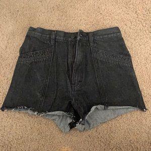 Afends High Rise Denim Shorts